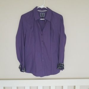 Purple Express Button Up